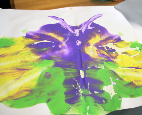 butterfly splodge painting that Ethan made